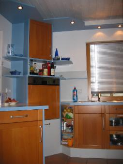 pin k che massivholz buche arbeitsplatte granit glas. Black Bedroom Furniture Sets. Home Design Ideas